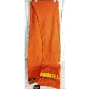 NEW Ralph Lauren Orange Wool Blnd Scarf Unisex